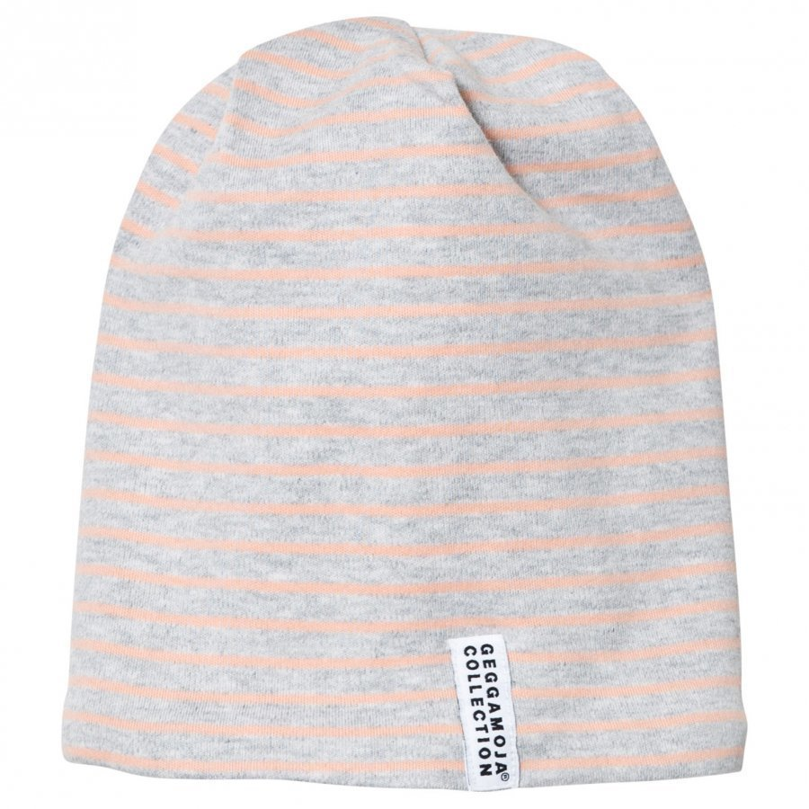 Geggamoja Topline Hat Light Grey Melange/Peach Pipo