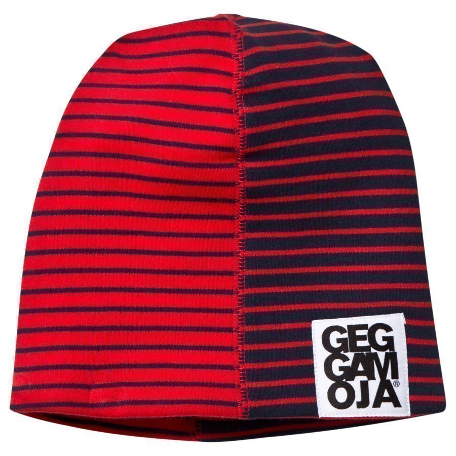 Geggamoja Two Color Hat Fleece Navy/Red Pipo
