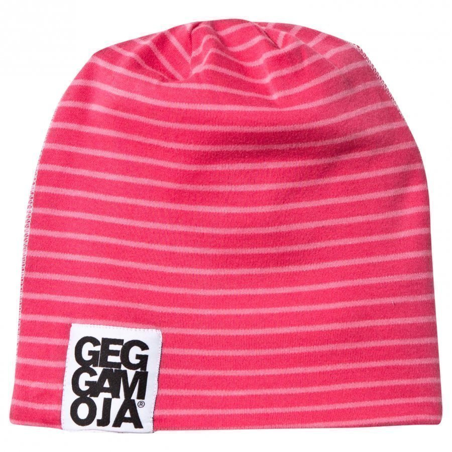 Geggamoja Two Color Hat Fleece Raspberry/Coral Pipo