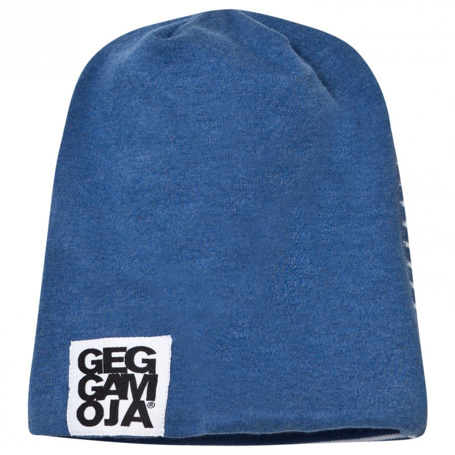 Geggamoja Two Color Hat Marin Melange/White Pipo