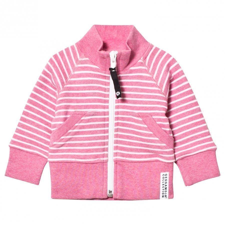 Geggamoja Zipsweater Pink Melange White Oloasun Paita