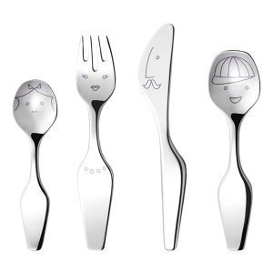 ... Georg Jensen The Twist Family Lasten Aterimet 4 Kpl d8a525c1b3
