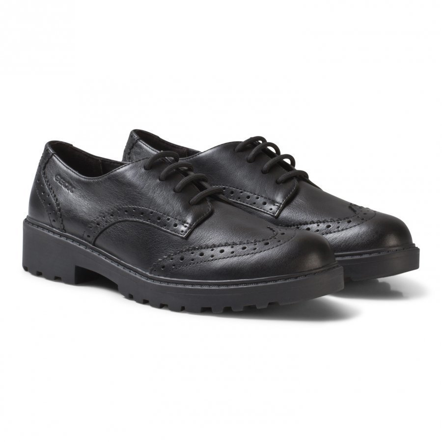 Geox Black Casey Leather Brogues Brogue Kengät