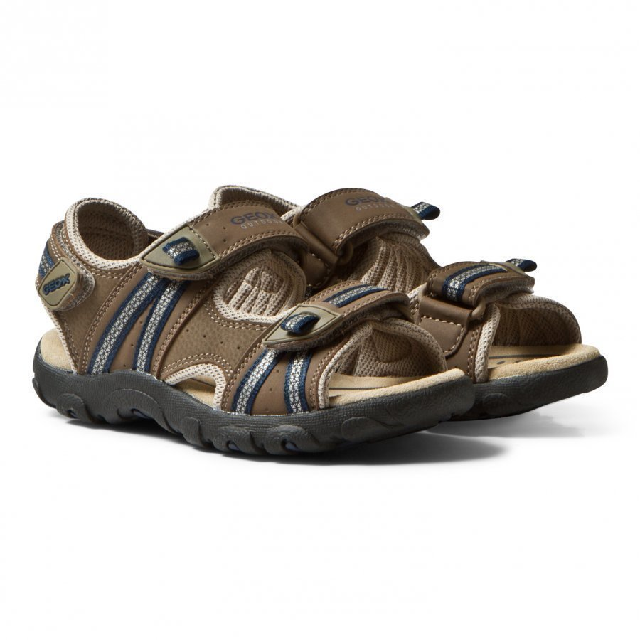 Geox Brown Velcro Strada Sandals Lenkkarit