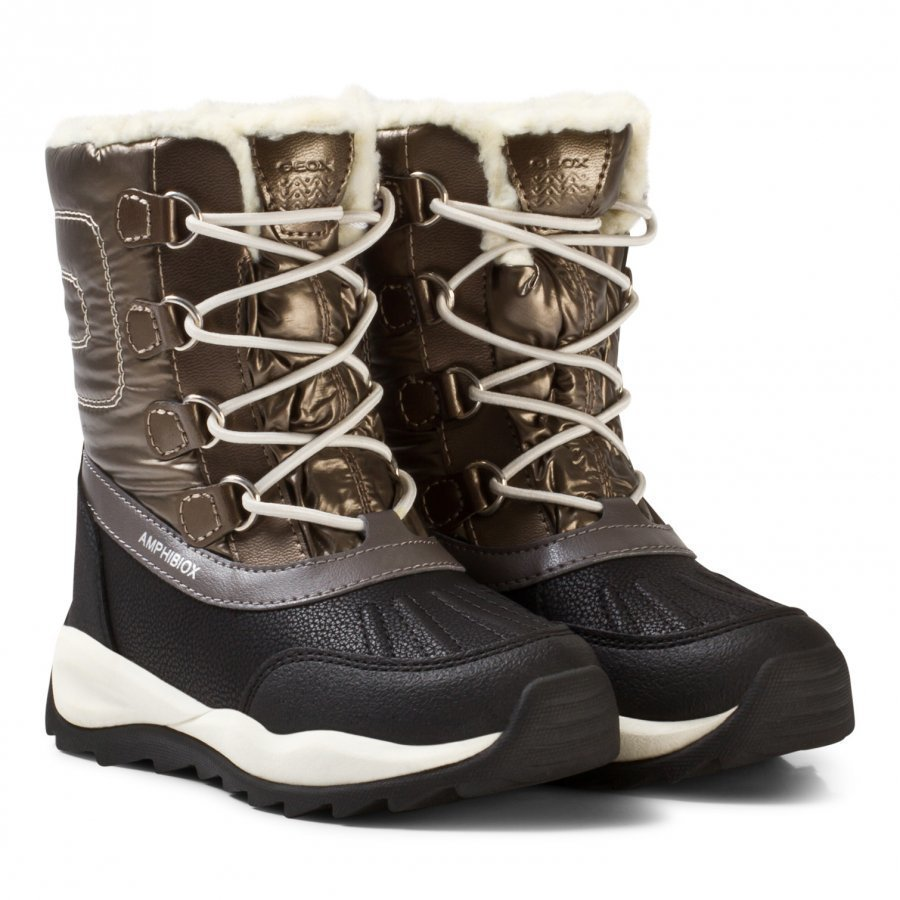 Geox Gold Jr Orizont Fleece Lined Snow Boots Talvisaappaat