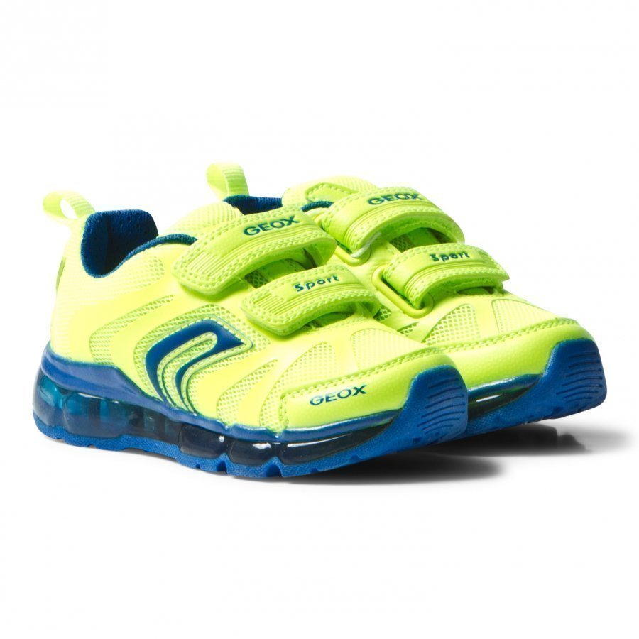 Geox Jr Android Light Up Sneakers Neon Yellow Lenkkarit