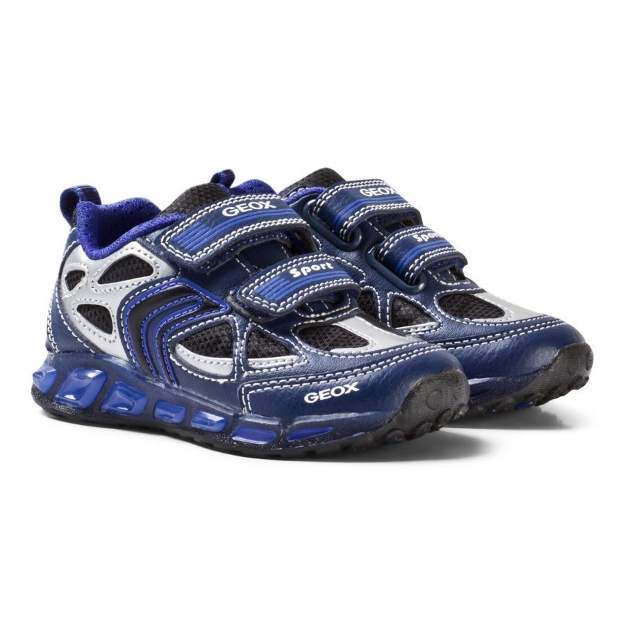 Geox Jr Shuttle Sneakers With Light Up Soles Blue Lenkkarit