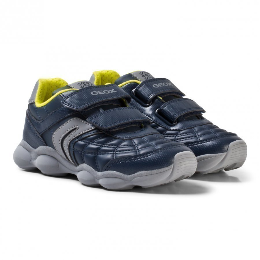 Geox Navy And Lime Junior Munfrey Velcro Trainers Lenkkarit