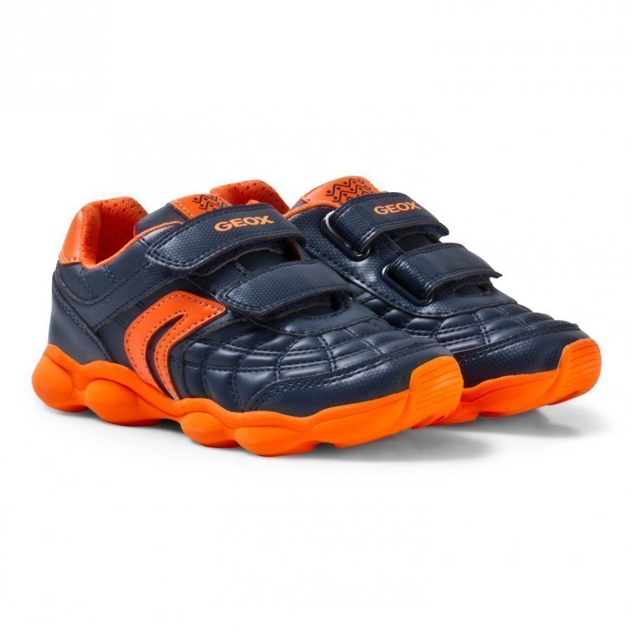 Geox Navy And Orange Junior Munfrey Velcro Trainers Lenkkarit