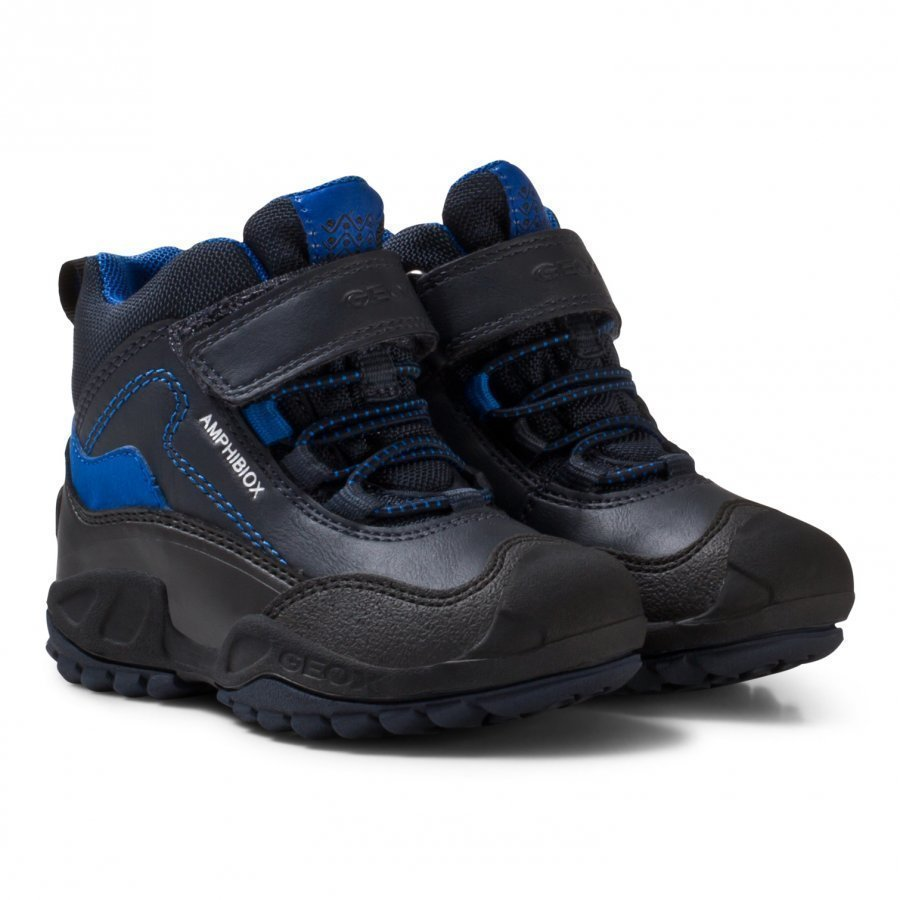 Geox Navy And Royal Blue Jr New Savage Abx Waterproof Boots Vaellussaappaat