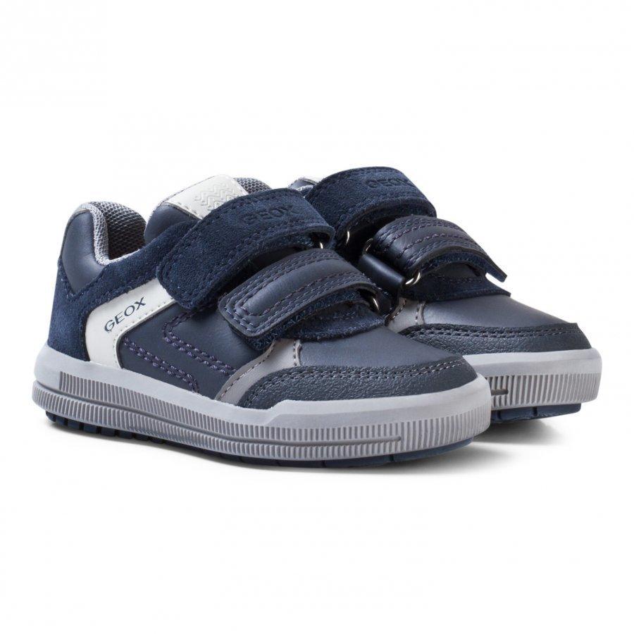 Geox Navy Suede Jr Arzach Sneakers Lenkkarit