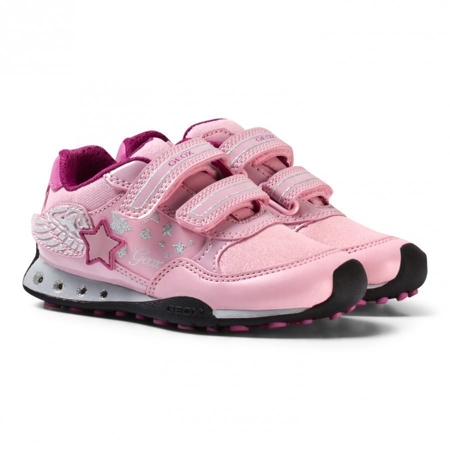 Geox New Jocker Jr Winged Velcro Sneakers In Pink Lenkkarit
