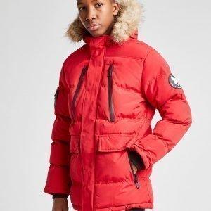 Good For Nothing Fur Parka Jacket Punainen