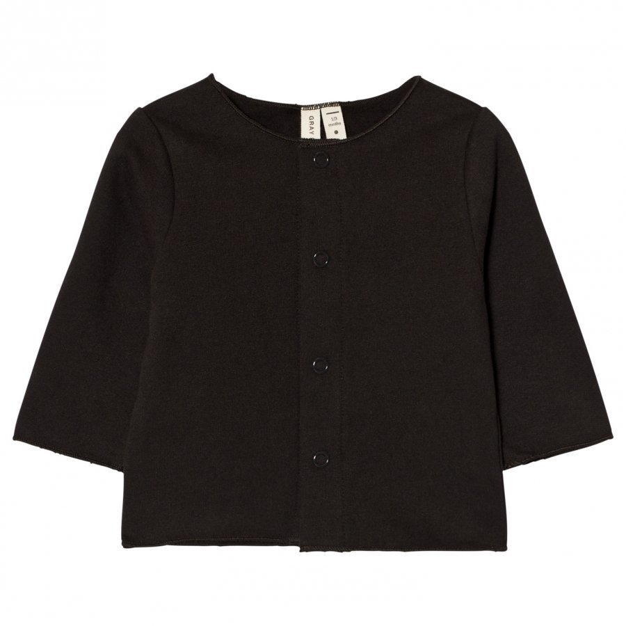 Gray Label Baby Cardigan Nearly Black Neuletakki