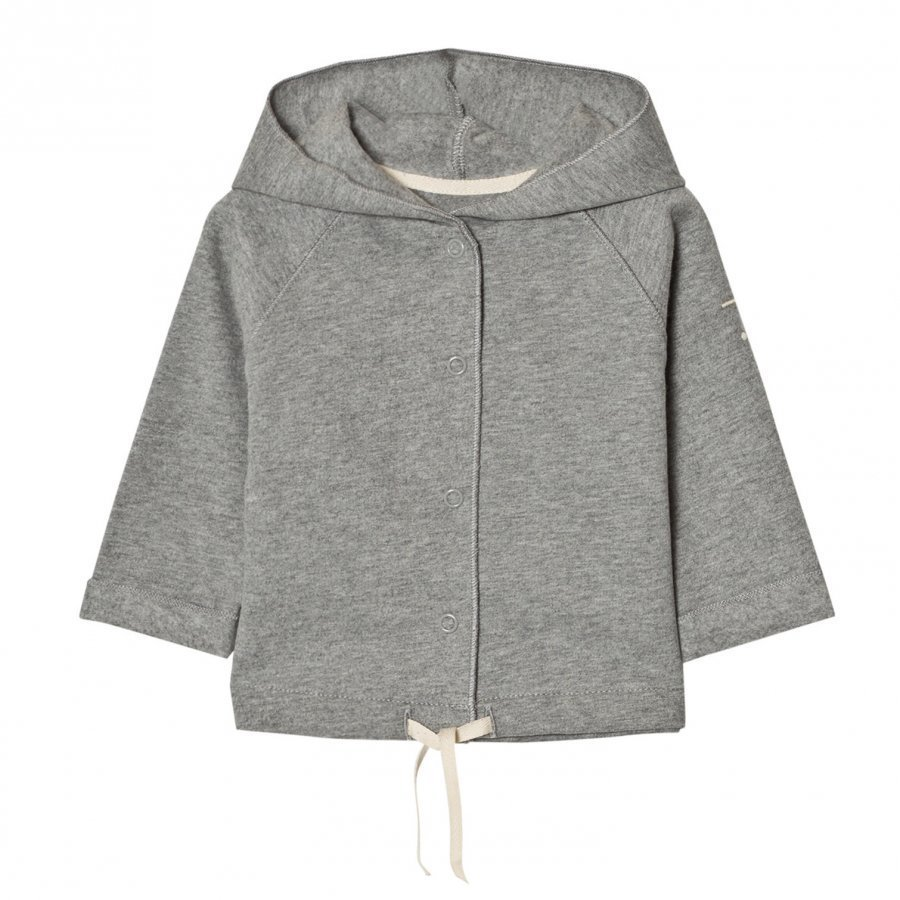 Gray Label Baby Hooded Cardigan Grey Melange Neuletakki