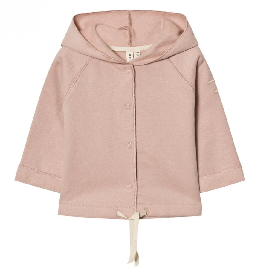 Gray Label Baby Hooded Cardigan Vintage Pink Neuletakki
