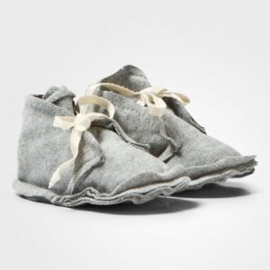 Gray Label Baby Raw Edged Booties Grey Melange Vauvan Tossut