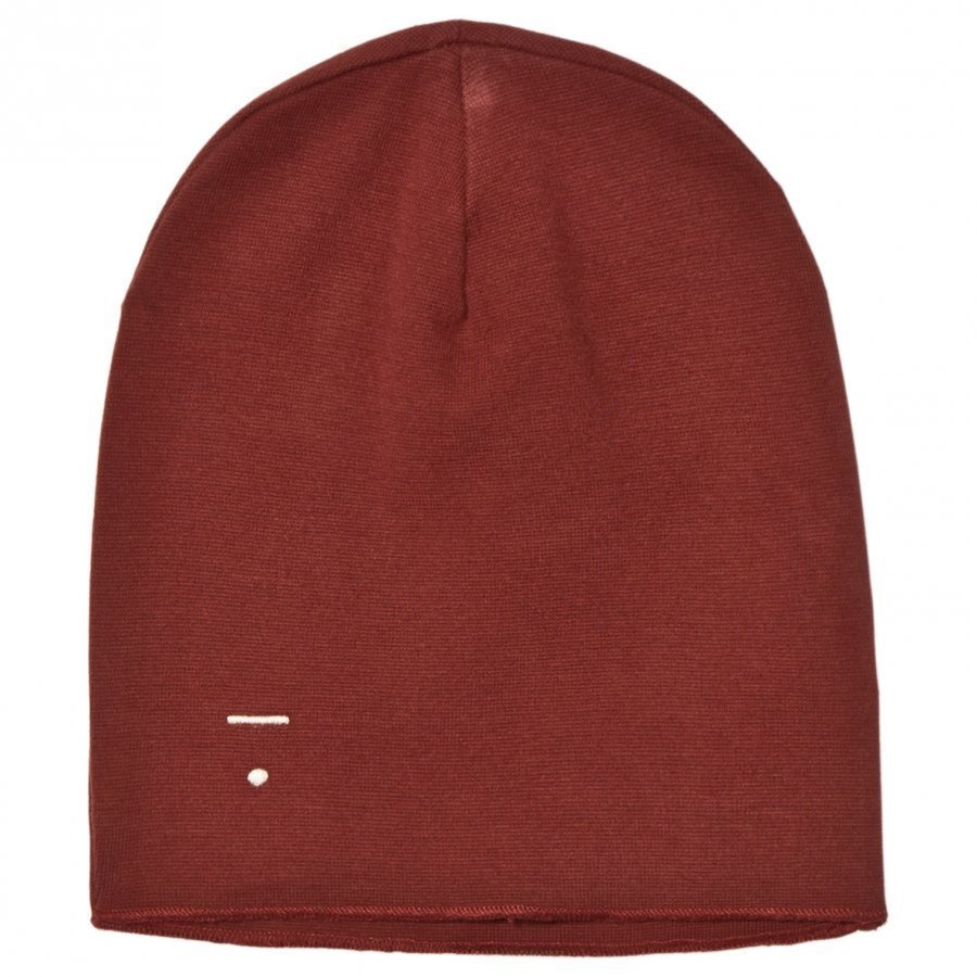 Gray Label Beanie Burgundy Pipo