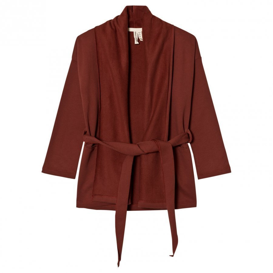 Gray Label Chunky Cardigan Burgundy Neuletakki
