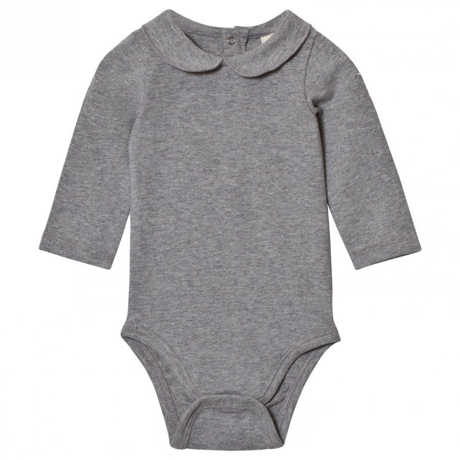 Gray Label Collared Baby Body Grey Melange Body