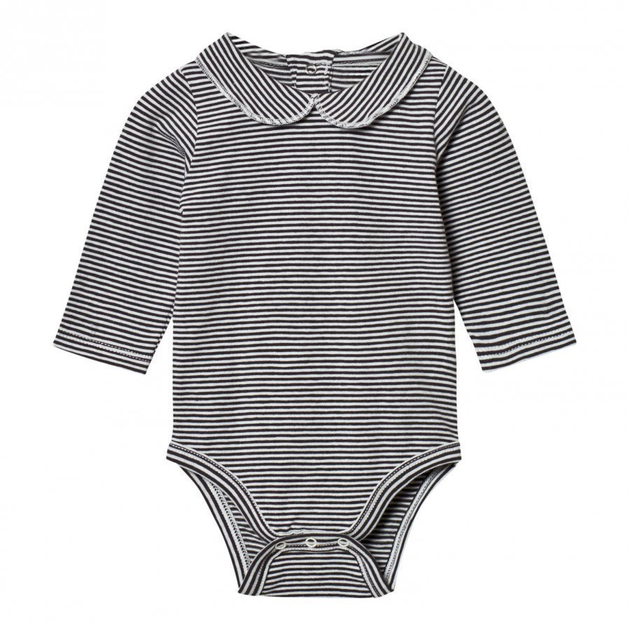 Gray Label Collared Baby Body Nearly Black/Off White Stripes Body