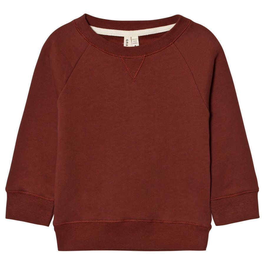 Gray Label Crewneck Sweater Burgundy Oloasun Paita