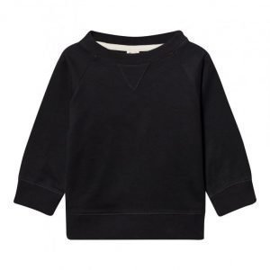 Gray Label Crewneck Sweater Nearly Black Oloasun Paita