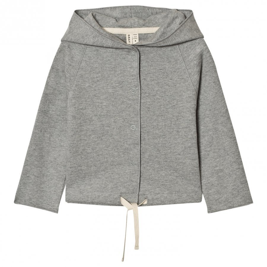 Gray Label Hooded Cardigan Grey Melange Neuletakki