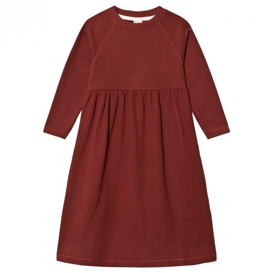 Gray Label Long Sleeve Long Dress Burgundy Mekko