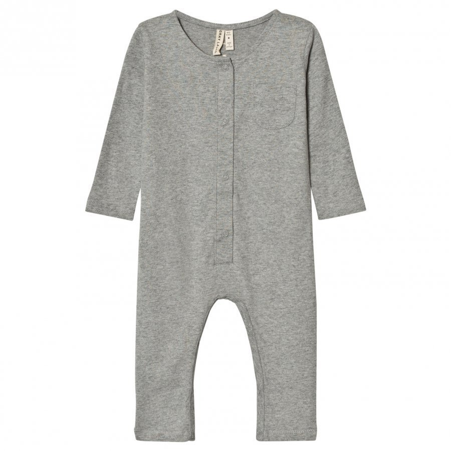 Gray Label Long Sleeve Playsuit Grey Melange Potkupuku