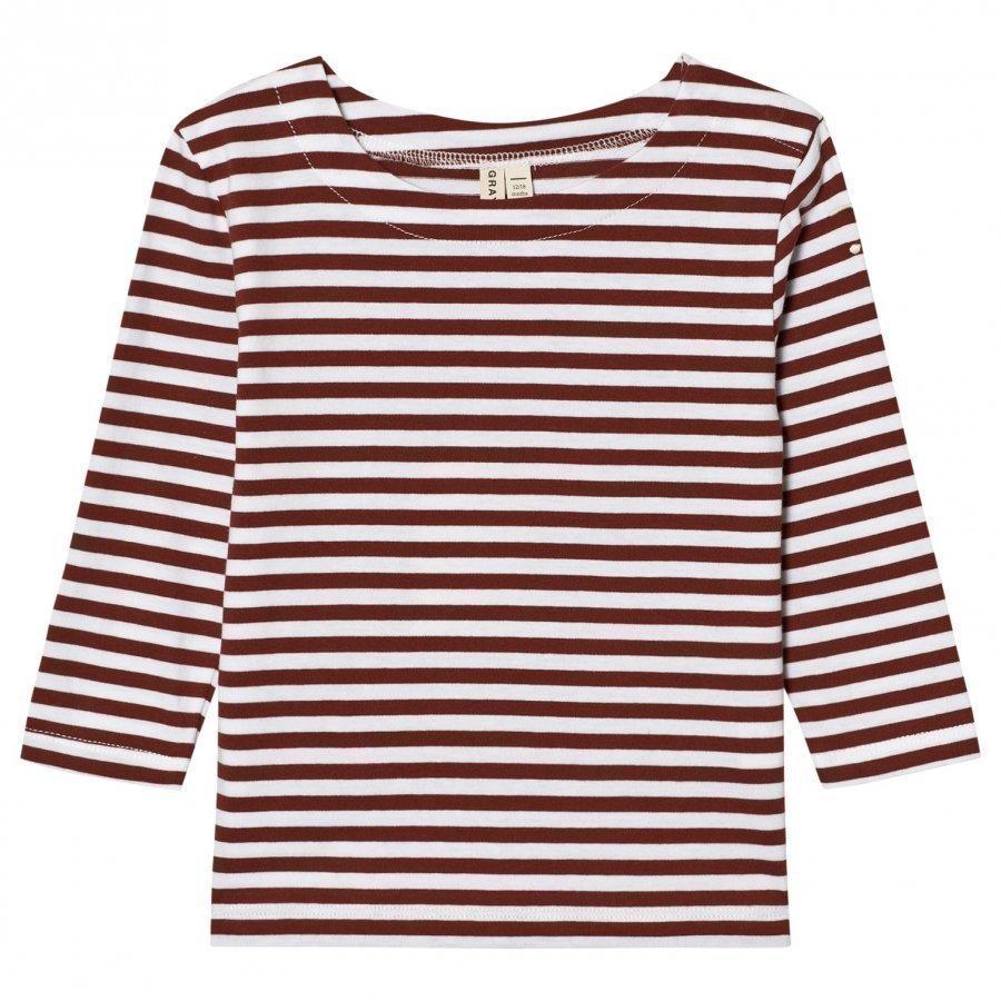 Gray Label Long Sleeve Striped Tee Burgundy/White Stripes Pitkähihainen T-Paita