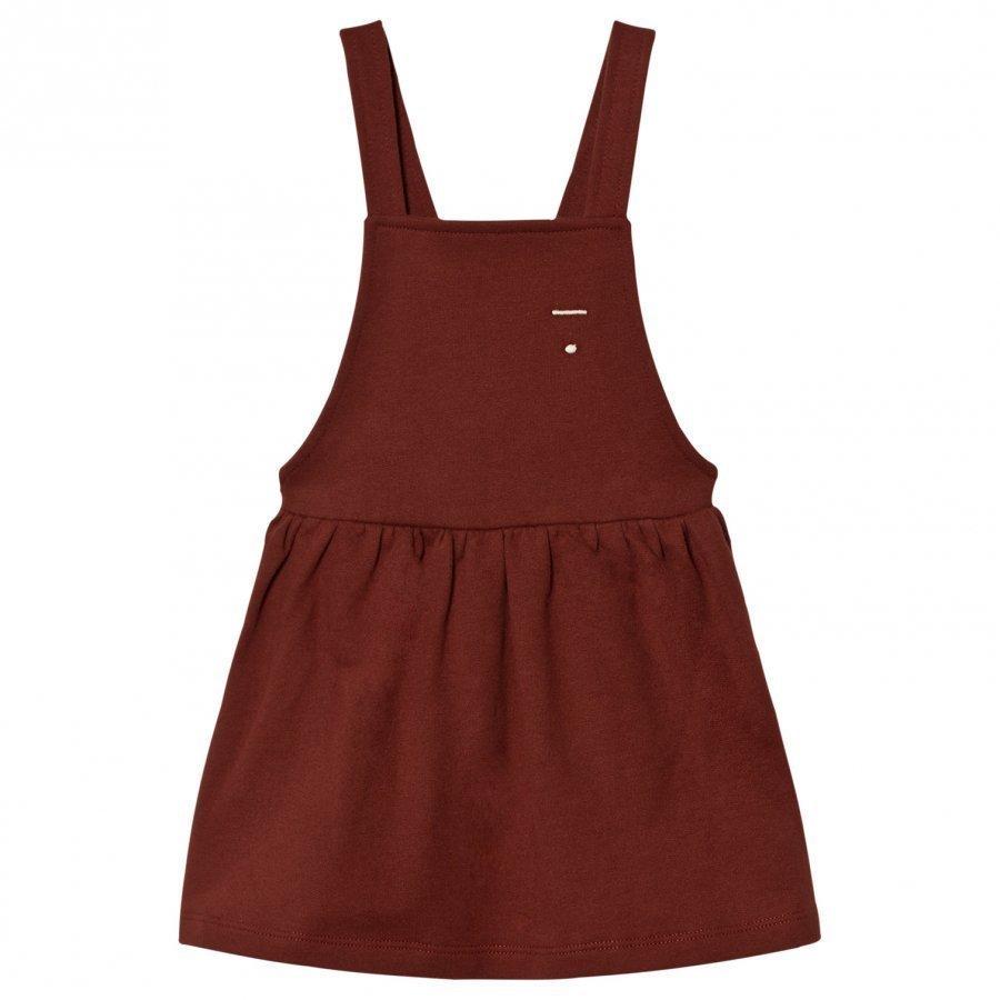 Gray Label Pinafore Dress Burgundy Mekko
