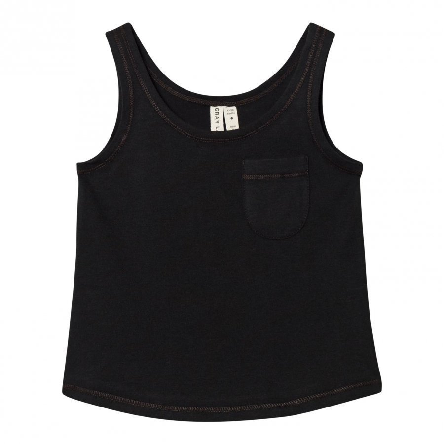 Gray Label Summer Tank Top Nearly Black Liivi