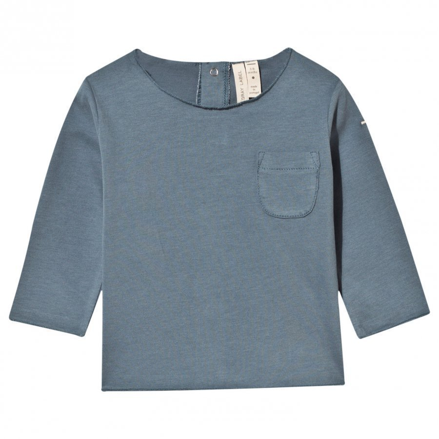 Gray Label Vauvan Pitkähihainen T-Paita Denim Pitkähihainen T-Paita