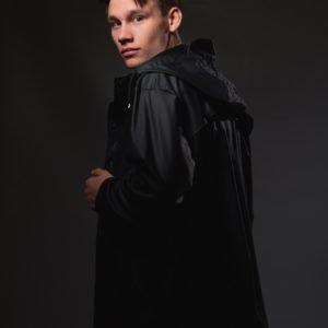 Grunt Drop Jacket Uni Sadetakki Musta