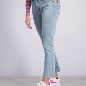 Grunt Flare Air Blue Croped Jeans Farkut Sininen