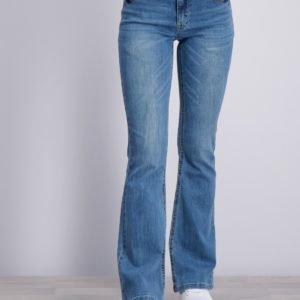 Grunt Flare Snug Blue Jeans Farkut Sininen