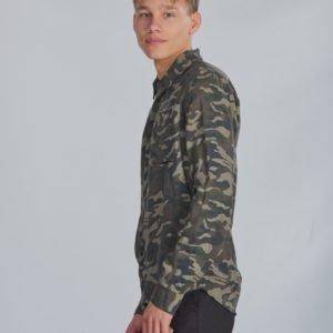 Grunt Novak Shirt Kauluspaita Vihreä