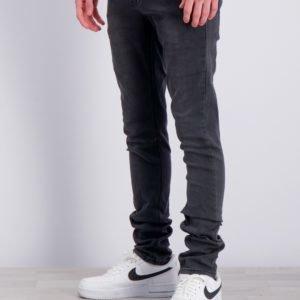 Grunt Paint On Dk. Grey Jeans Farkut Harmaa