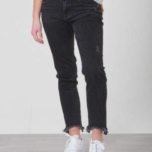 Grunt Relaxed Cropped Black Stone Jeans Farkut Harmaa