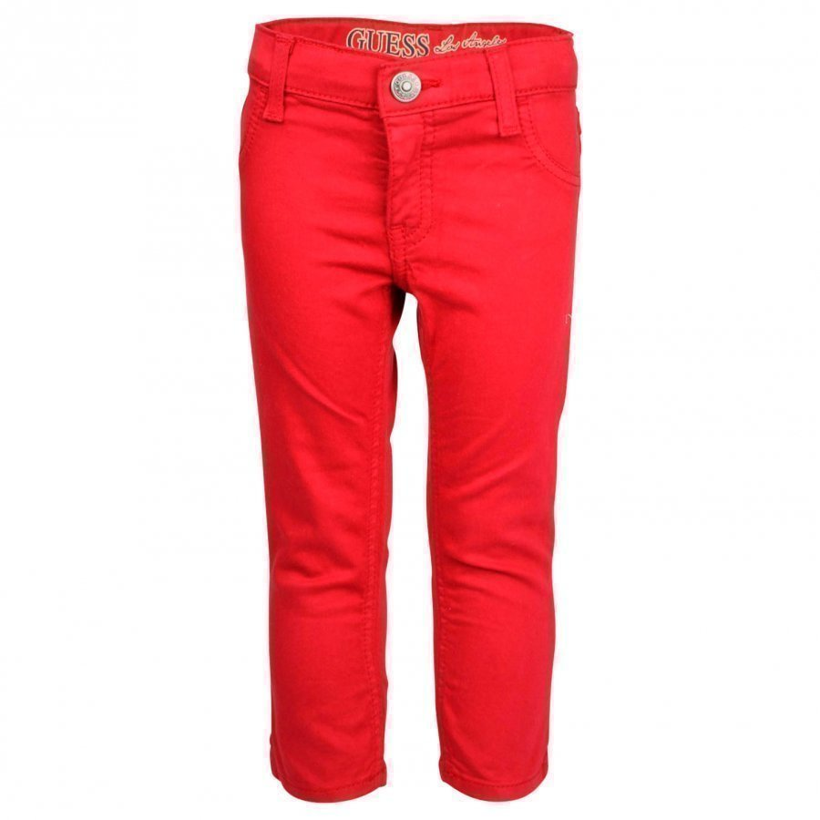 Guess 5 Pkt Pant Vintage Red Housut
