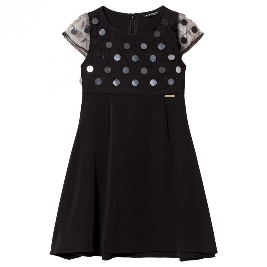 Guess Black Sequin Dress Juhlamekko