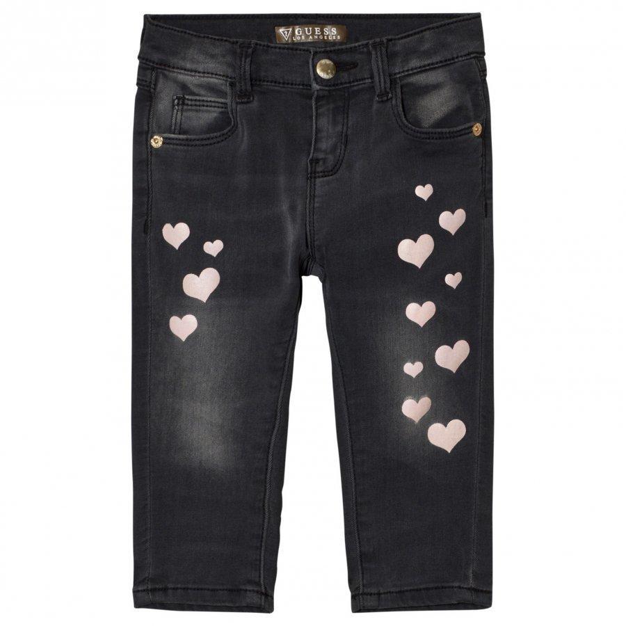Guess Charcoal Heart Print Jeans Farkut