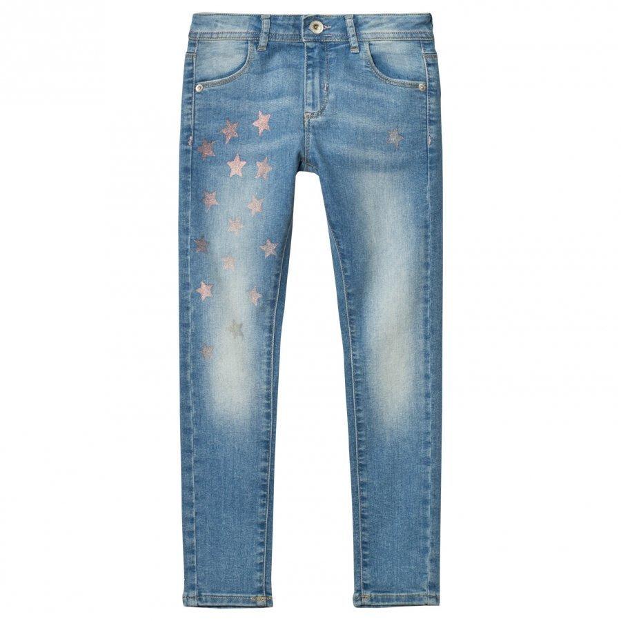 Guess Light Wash Star Print Jeans Farkut