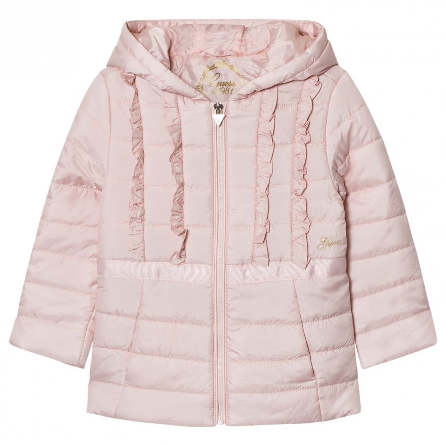 Guess Pale Pink Padded Coat Toppatakki