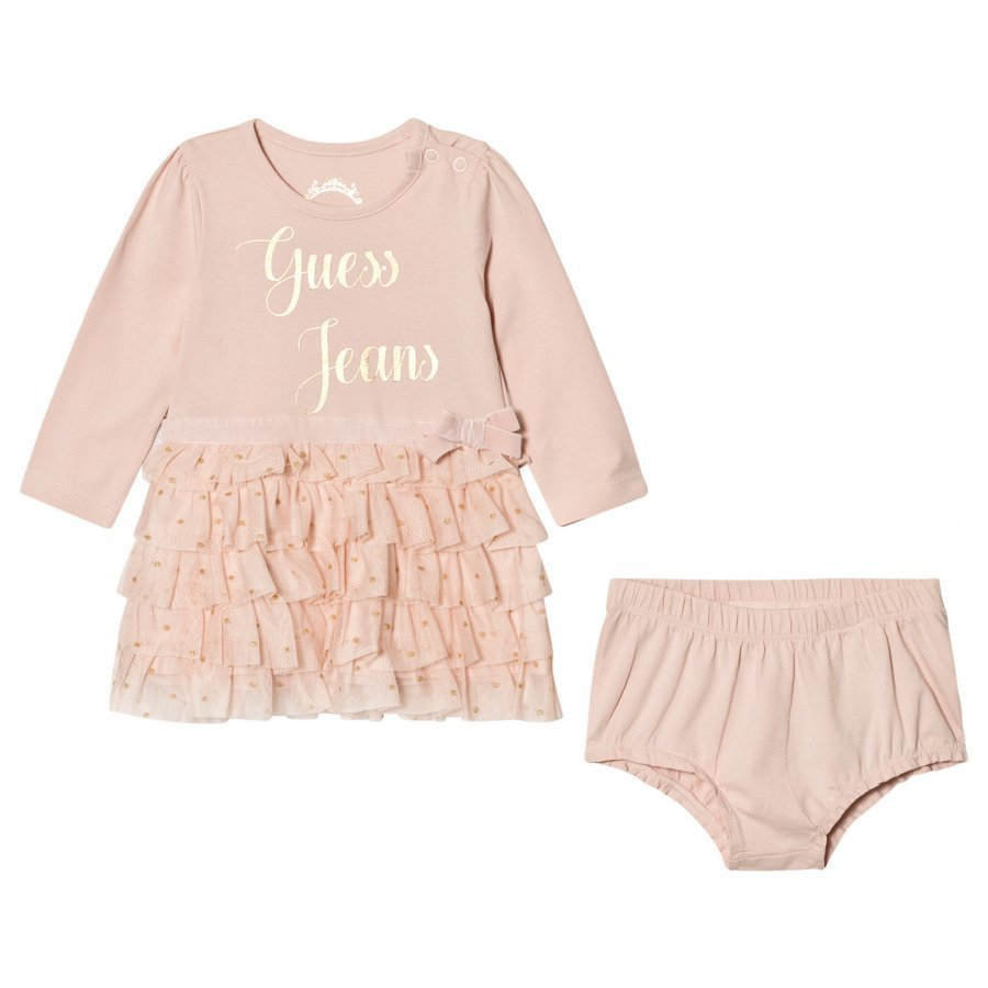 Guess Pale Pink Tulle Dress Bloomers Set Asusetti