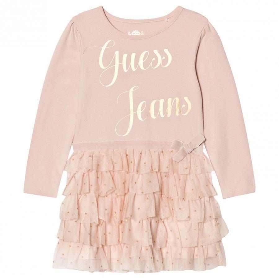 Guess Pale Pink Tulle Dress Mekko