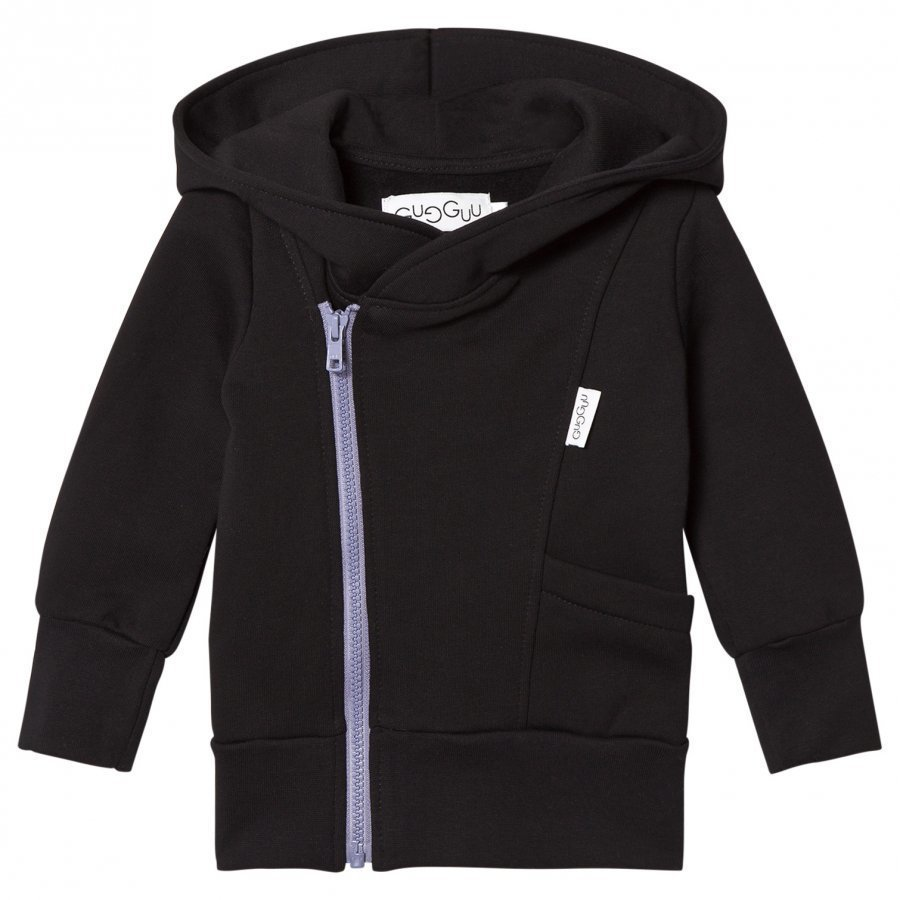Gugguu College Hoodie Black/Ice Blue Huppari