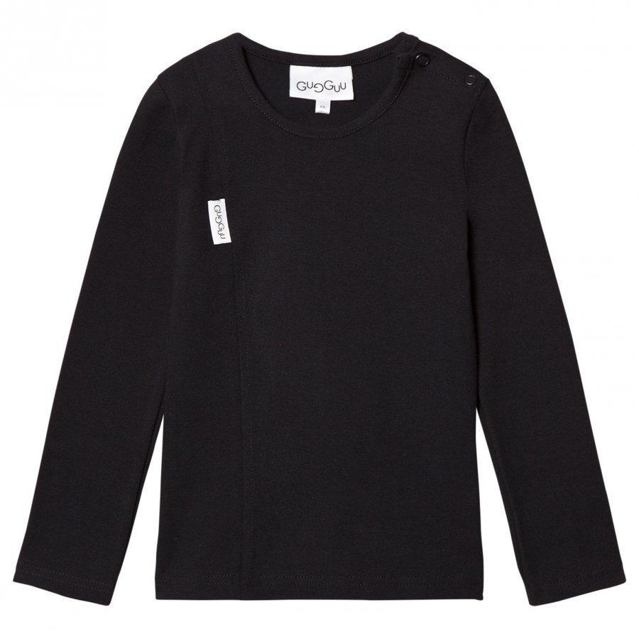 Gugguu Unisex Tricot Shirt Black Pitkähihainen T-Paita