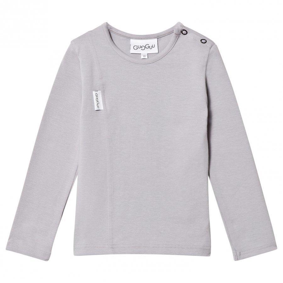 Gugguu Unisex Tricot Shirt Dabble Grey Pitkähihainen T-Paita